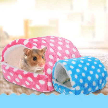 Pet Nest Fleece Warm Bed House Cage Breathable For Hamster Squirrel Chinchilla