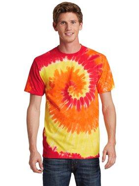Port & Company Men's Colorful Tie-Dye Crewneck T-Shirt