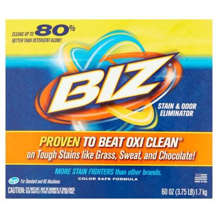 Bleach Stain Removal (Biz Stain & Odor Eliminator, 60 oz)