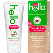 (2 Pack) Hello Naturally Friendly Natural Watermelon Fluoride Free Kids Toothpaste, 4.2 oz