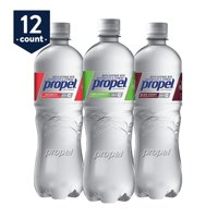 Propel, 3 Flavor Variety Pack, Zero Calorie Water Beverage with Electrolytes & Vitamins C&E, 24 oz Bottles (Pack of 12)