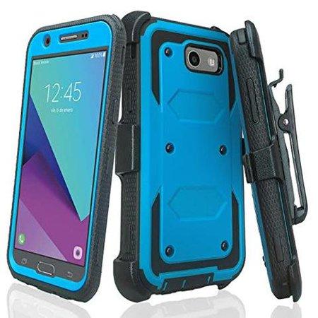 Shell Arbor (Samsung Galaxy J7 V, J7 Perx, J7 Sky Pro, J7 2017 Case, Rugged Full-Body Armor [Built-in Screen Protector] Heavy Duty Holster Shell Combo Case for -)