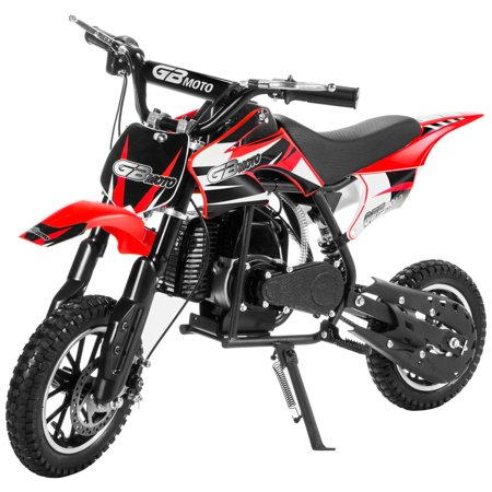 XtremepowerUS 49CC 2-Stroke Gas Power Mini Pocket Dirt Bike Dirt Off Road Motorcycle Ride-on ()