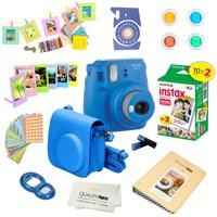 Fujifilm Instax Mini 9 Camera - Cobalt Blue + Fujifilm Instax mini 9 Instant Films 2-Pack = 20 Sheets + A 15 PC Massive Deluxe Accessory Kit Bundle for Fujifilm instax mini 9 Instant Camera