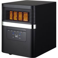Soleil Electric Quartz Infrared Heater, Black, PH91K