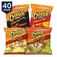 Cheetos Flamin' Hot & Spicy Variety Snack Pack, 1 oz Bags, 40 Count