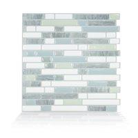 Smart Tiles 10.06 in x 10 in Peel and Stick Self-Adhesive Mosaic Backsplash Wall Tile - Bellagio Costa (each)