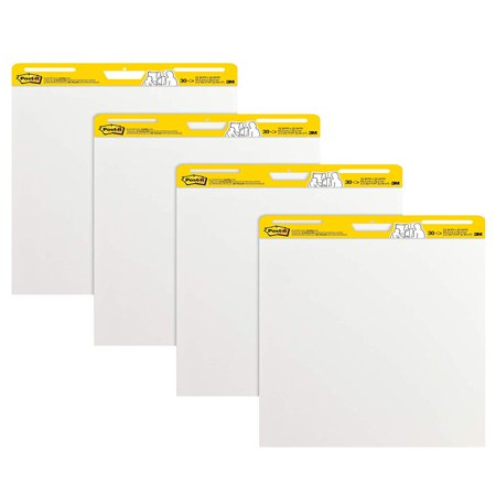Easel Presentation Eraser (Post-it Self-Stick Easel Pads 4 Pack, 25 x 30-Inches, White )