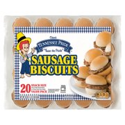 Odom's Tennessee Pride Sausage Biscuit Sandwiches, 20 Count