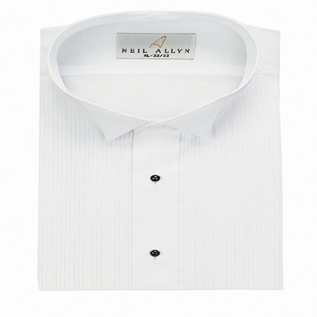 Wing Tuxedo Shirt - Neil Allyn Men's Tuxedo Shirt Wing Collar 1/8 Inch Pleat