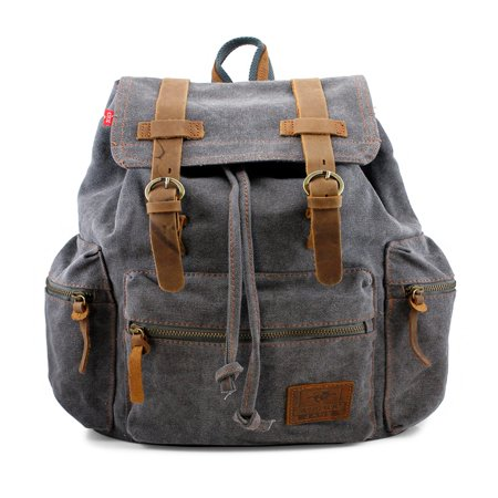 Men's Outdoor Sport Vintage Canvas Military Backpack ()