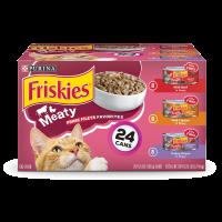 Friskies Gravy Wet Cat Food Variety Pack; Prime Filets Meaty Favorites - (24) 5.5 oz. Cans