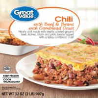 Great Value Chili with Beef & Beans with Cornbread Crust, 32 oz