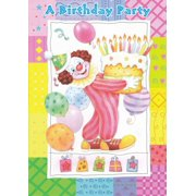 Birthday Party Invitations Clowns 48 Pack