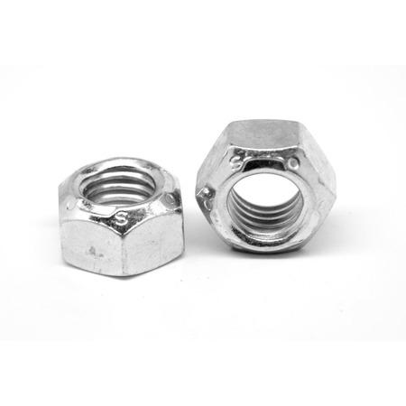 M5 x 0.80 Coarse Thread DIN 980 Class 8 Automation (Stover All Metal) Locknut Medium Carbon Steel Zinc Plated and Wax Pk 50 Dual Thread Top Plate