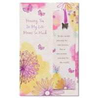 American Greetings Watercolor Floral Birthday Card with Foil