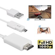 EEEKit Micro USB to HDMI Media HDTV Adapter 8.2ft Cable 11 Pin / 5 Pin for Samsung Galaxy S2 S3 S4 S5 Note 2 3 4 8 9 Note Edge HTC M8 HTC One LG Sony Android Cell Phone