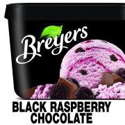 Breyers Original Frozen Dairy Dessert Black Raspberry Chocolate 48 oz
