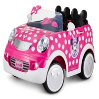 12-Volt Minnie Mouse Hot Rod Coupe Ride-On by Kid Trax, Pink/White