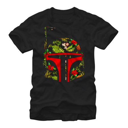 Tropical Print Skirt - Star Wars Men's Boba Fett Tropical Print Helmet T-Shirt