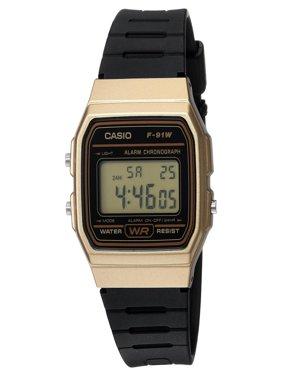Men's Digital Watch, Gold/Black