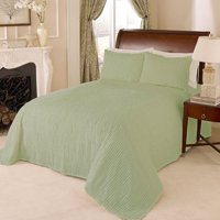 CHANNEL CHENILLE BEDSPREAD FULL SAGE