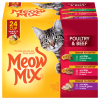 Meow Mix Tender Favorites Poultry & Beef Variety Pack Cat Food, 2.75-Ounce