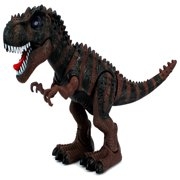 Dinosaur Century Tyrannosaurus Rex T-Rex Battery Operated Toy Dinosaur Figure w/ Realistic Movement, Lights and Sounds (Colors May Vary)