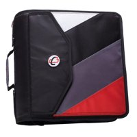 Case it 4 inch king sized zipper binder with backpack feature, black