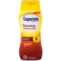 Coppertone Tanning Defend & Glow Sunscreen Vitamin E Lotion SPF 8, 8oz