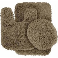 Serendipity Shaggy Nylon 3-Piece Washable Bathroom Rug Set