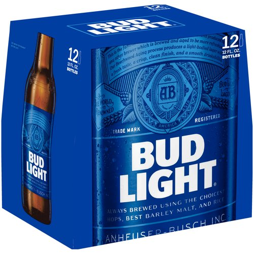Bud Light Beer, 12 pack, 12 fl oz