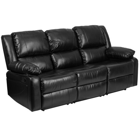 Flash Furniture Harmony Series Black Leather Sofa with Two ...