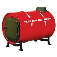 United States Stove Company BSK1000 Cast Iron Single Barrel Stove Kit