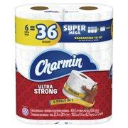 Charmin Ultra Strong Toilet Paper, 6 Super Mega Roll