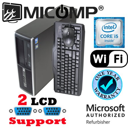 Refurbished Fast HP Pro Computer I5-3470 Quad Core 3.2Ghz 16Gb 500Gb WiFi Windows 10 64 Bit Dual LCD Ready 1 Year Warranty
