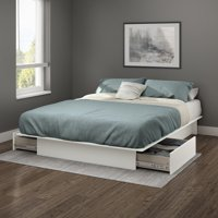 South Shore SoHo Storage Platform Bed with 2 Drawers, Multiple Sizes and Finishes