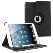 iPad Air 2 2nd Gen (9.7 inch) Case by KIQ 360 PU Leather Swivel Case Rotating Fitted Slim Cover Multi-View For Apple iPad AIR 2 (2nd Gen) 9.7, Black