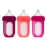 Boon NURSH Silicone Bottle 8OZ 3PK PINK MULTI