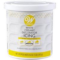 Wilton Creamy Decorator Icing, Bright White, 16oz