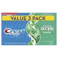 Crest Complete Whitening + Scope Toothpaste, Minty Fresh, 6.2 oz Pack of 3