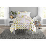 Mainstays Gold Dot Bed in a Bag Comforter Set