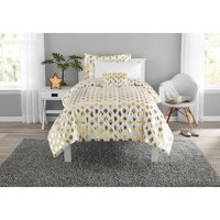Mainstays Gold Dot Bed in a Bag Bedding