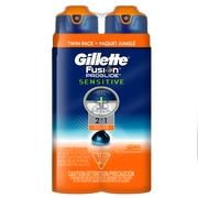 Gillette Fusion ProGlide Sensitive 2 in 1 Men's Shave Gel Twin Pack, Active Sport, 12oz