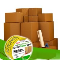 Uboxes 3 Room Bigger Moving Kit, 40 Boxes, Moving & Packing Supplies
