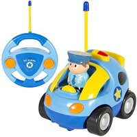 Kids Remote Control Car, RC Cartoon Race Car Vehicle with Pull Back Sound and Flashlight Car Toys Radio Control for 1 Year Old Up Boy Birthday Chrismas Gifts
