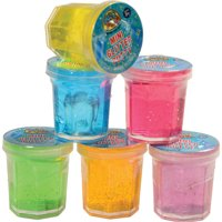 "Mini Glitter Slime Bucket Easter Egg Filler 1.25"" Party Favors, Assorted, 8 Pack"