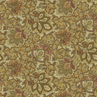 Waverly Inspirations PAISLEY ANTIQUE 100% Cotton Duck Fabric 45'' Wide, 180 Gsm, Quilt Crafts Cut By The Yard