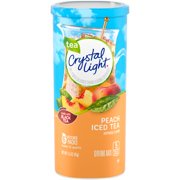 (6 Pack) Crystal Light Peach Iced Tea Drink Mix, 6 count Canister