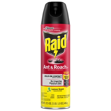 Raid Ant & Roach Killer 26, Lemon Scent, 17.5 oz